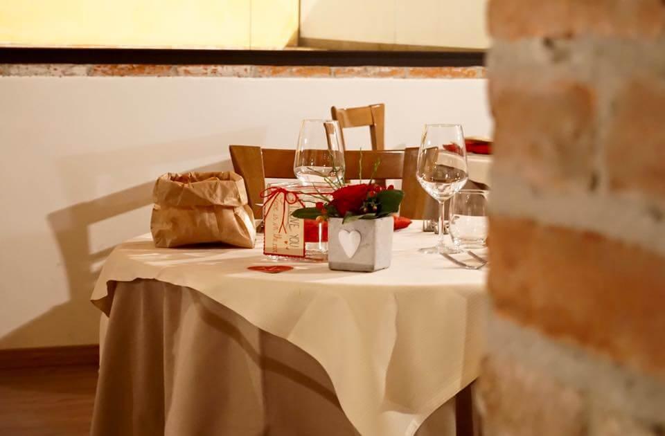 Trattoria capanna tavolo san valentino